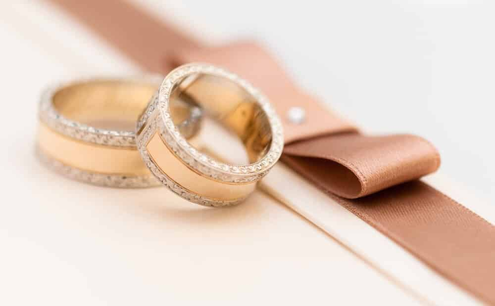 a gold plated ring