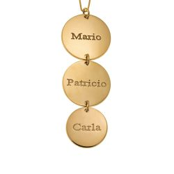Vertical Disc Necklace gold