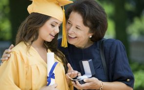 Mom gives graduation gift for her daugther