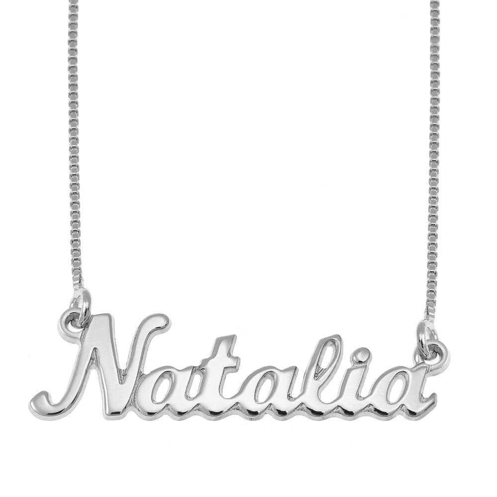 Classic Name Necklace silver