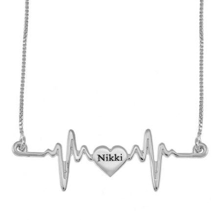 My Heartbeat Name Necklace