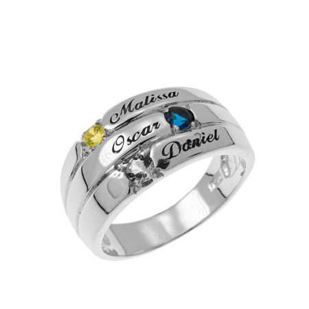 3 Stones Mother Ring