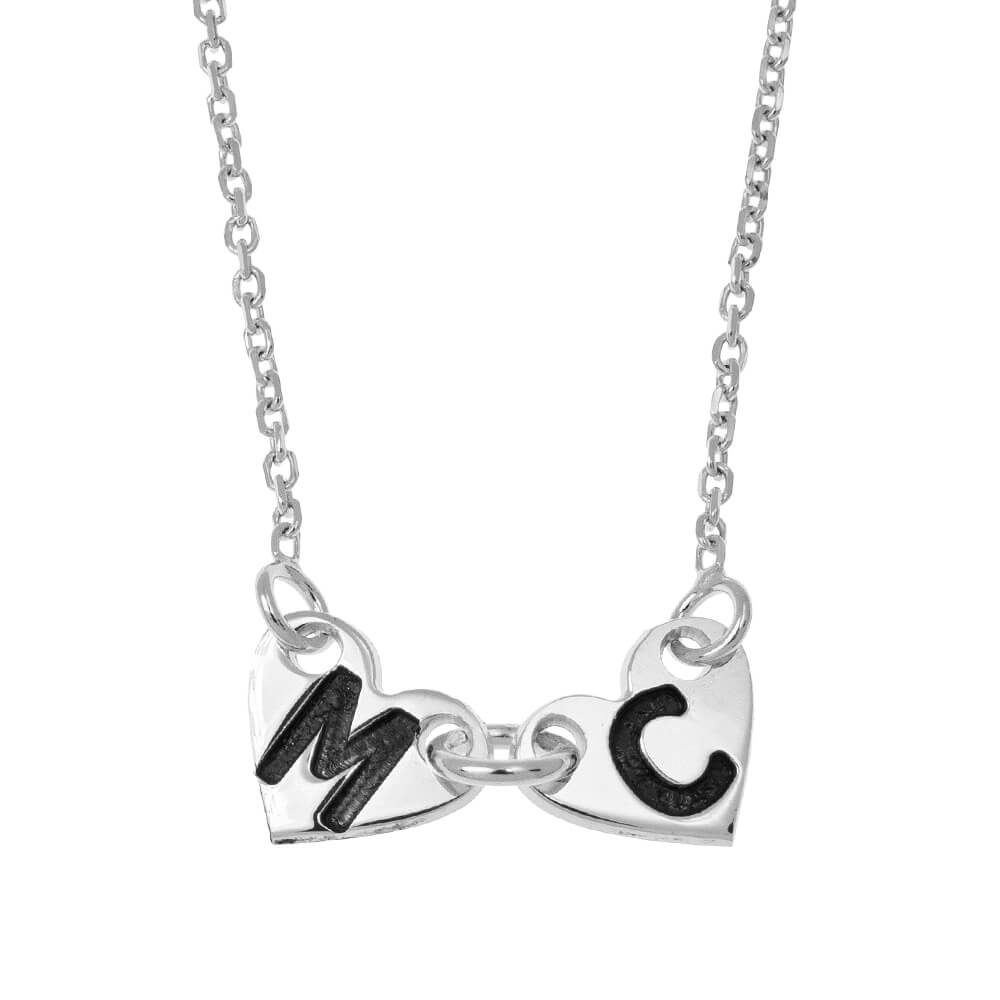Attached Forever Hearts Necklace silver