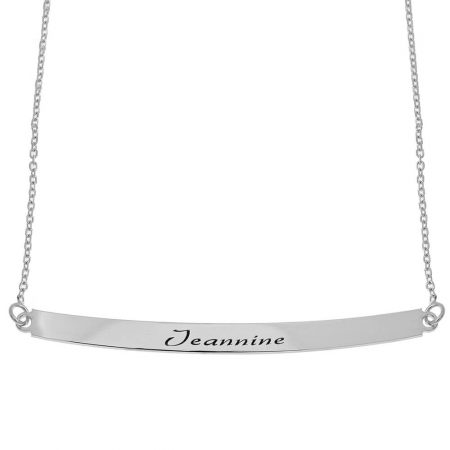 Curved Name Plate Necklace
