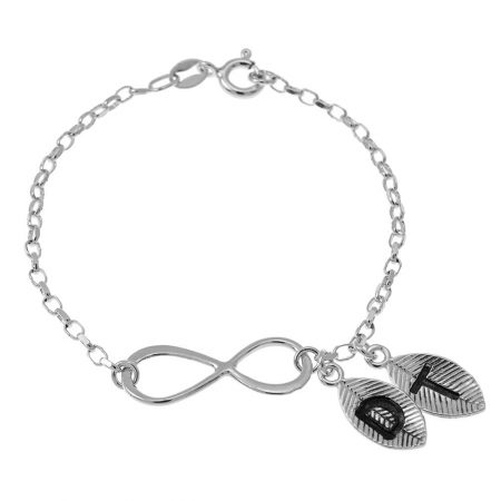 Infinity and Leaves Bracelet