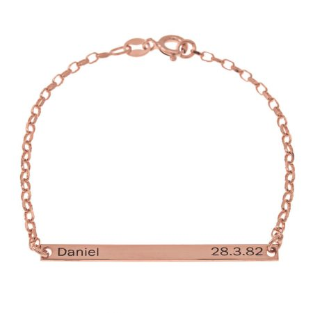 Name and Date Plate Bracelet