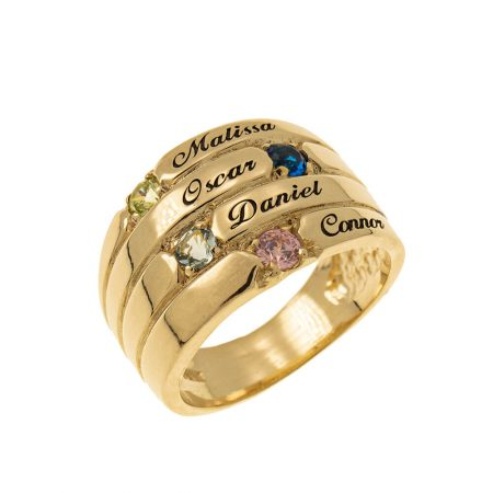 4 Stones Mother Ring