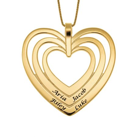 Engraved Family Heart Necklace