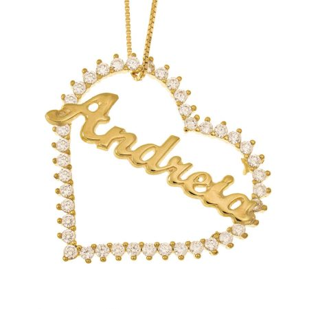 Big Heart Name Necklace