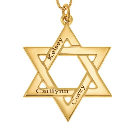 Star of David Names Necklace