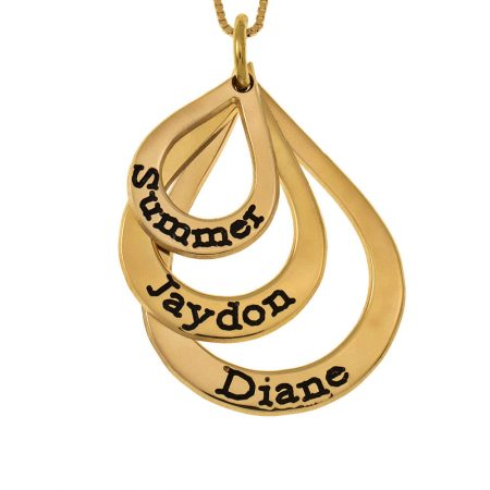 Drops Mother Name Necklace