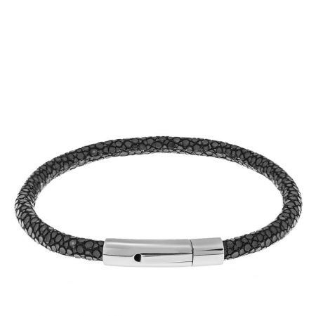 Leather Luxury Bracelet with Stainless Steel for Men